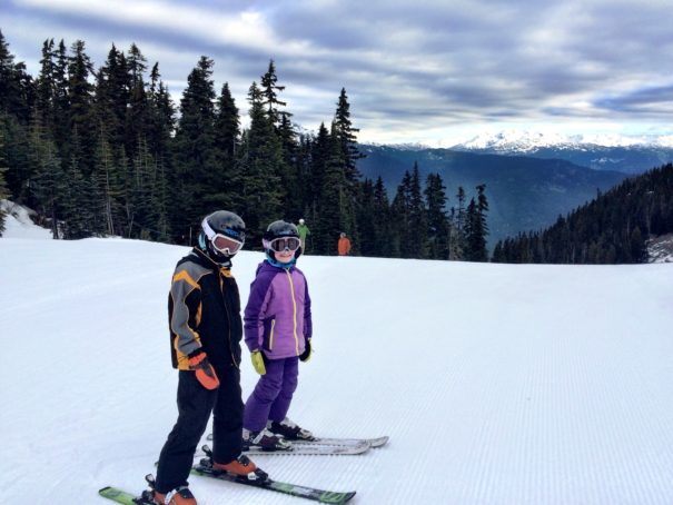 Skiing at Whistler, BC