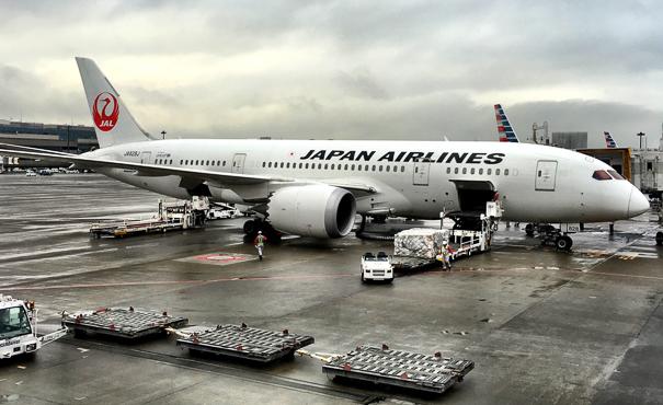Japan Airlines 787 Dreamliner NRT Tokyo