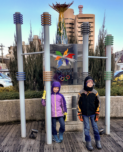 Nagano Japan with kids Winter Olympics