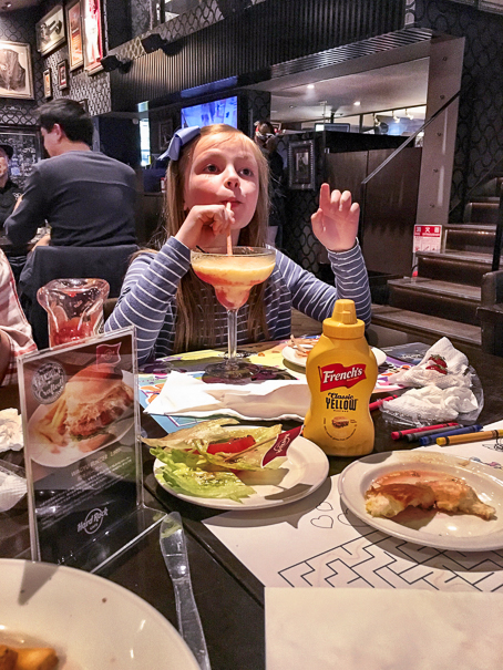 Tokyo Japan with kids Hard Rock Cafe