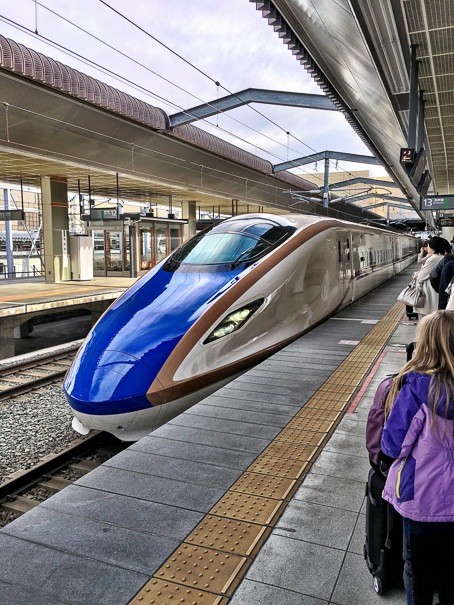Tokyo Japan with kids shinkansen bullet train