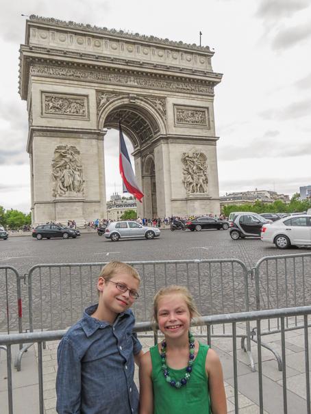 Arc de Triomphe - visiting Paris with kids