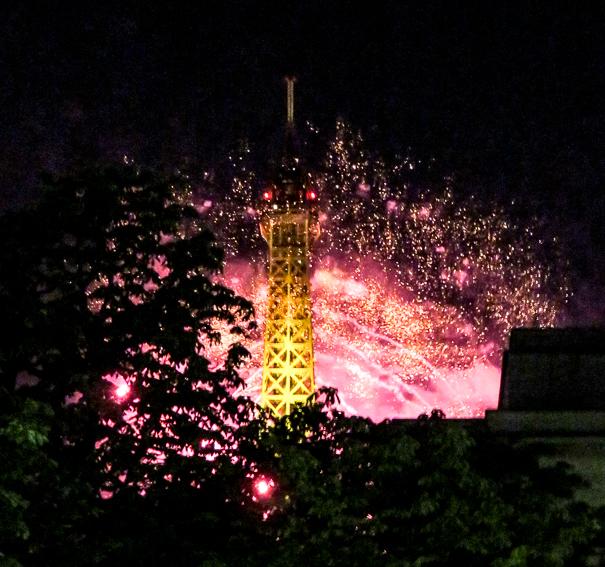 Bastille Day fireworks in Paris with kids