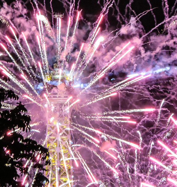 Bastille Day fireworks - fun activities in Paris with kids