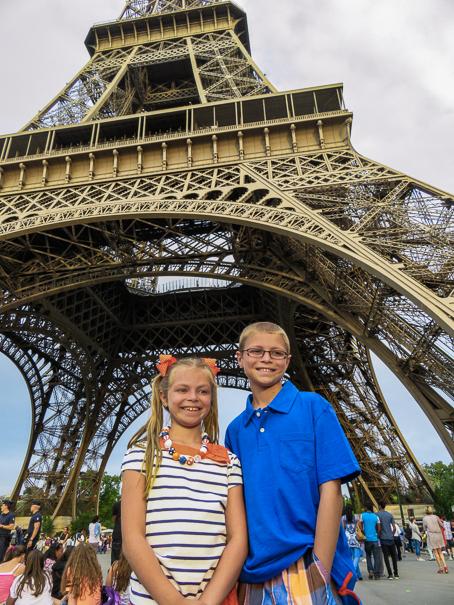 Eiffel Tower Paris with kids
