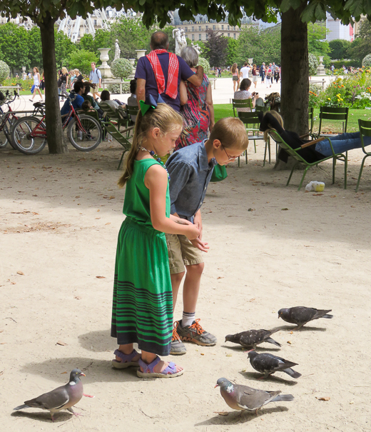 Paris with kids at the Tuilleries.