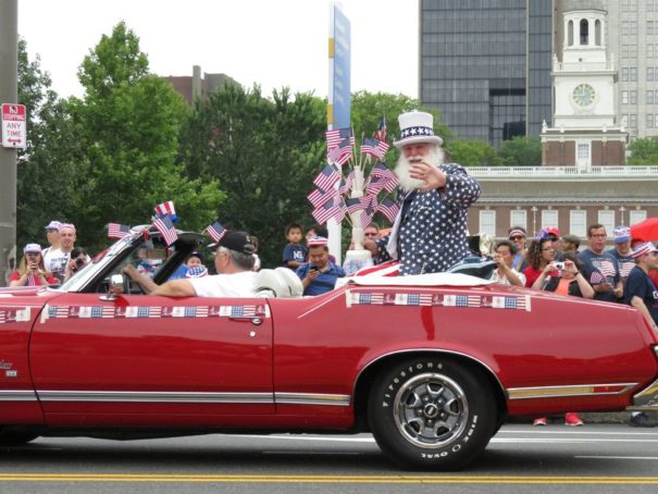 Uncle Sam at the July 4th Parade in Philly