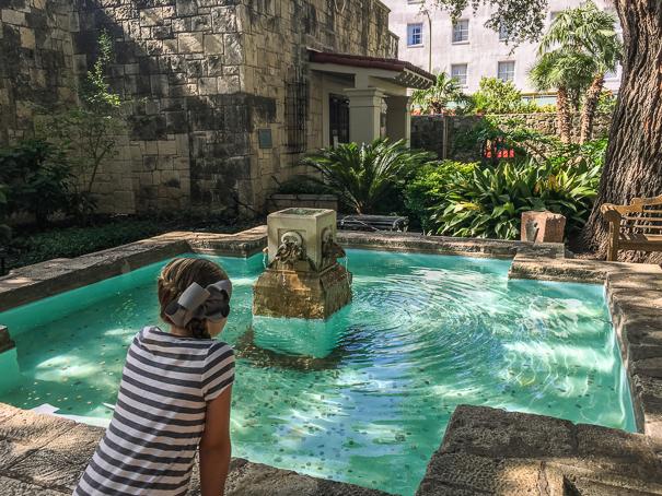 Visiting the Alamo in San Antonio with kids