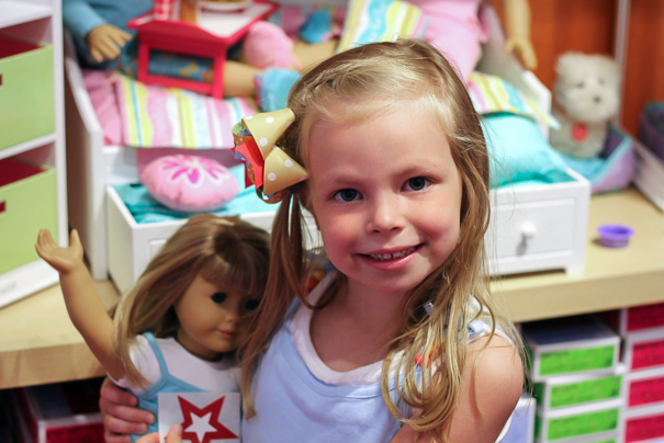 American Girl Store in St. Louis with kids