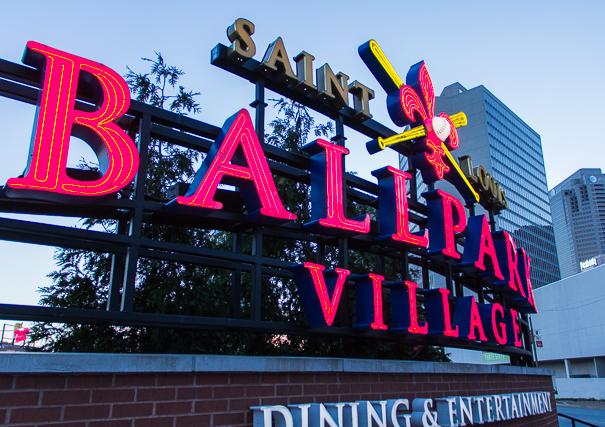 Ballpark Village in St. Louis with kids