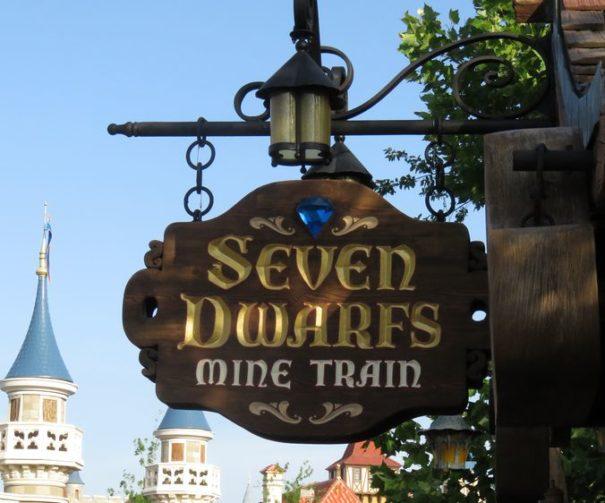 Entrance to the new Seven Dwarfs Mine Train