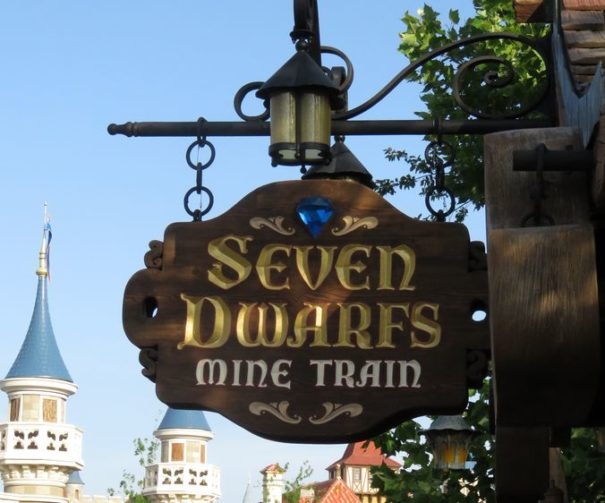 Entrance to the new Seven Dwarfs Mine Train