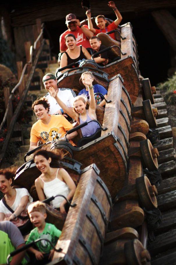 Our ride on the Seven Dwarfs Mine Train