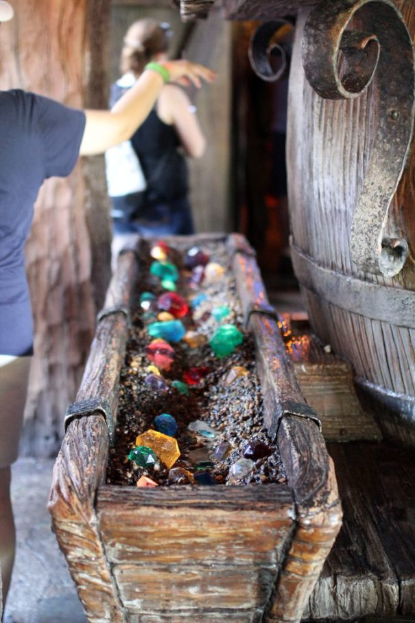 Really great Imagineering on the Seven Dwarfs Mine Train.