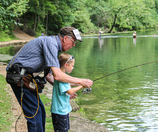 Fishing trip to Maramec Spring Park