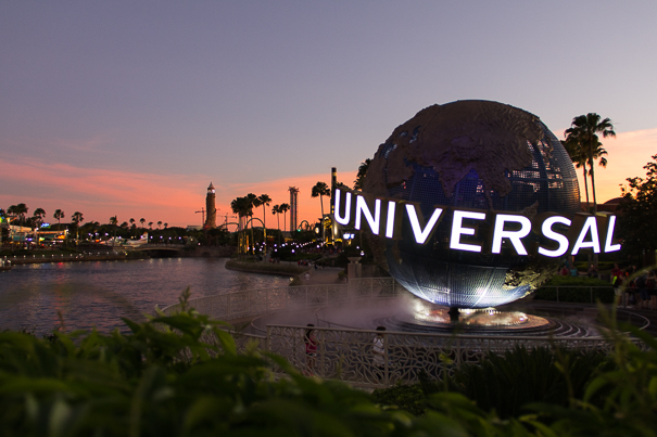 Sunset at Universal Orlando Resort