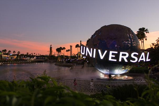 Sunset at Universal Orlando Resort