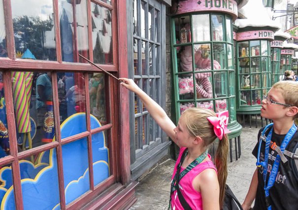 Magical windows at Universal Orlando Resort
