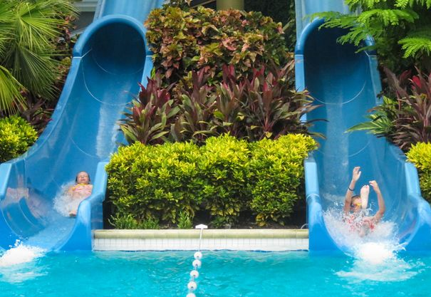 Coconut Point water slides-best gulf coast Florida resorts