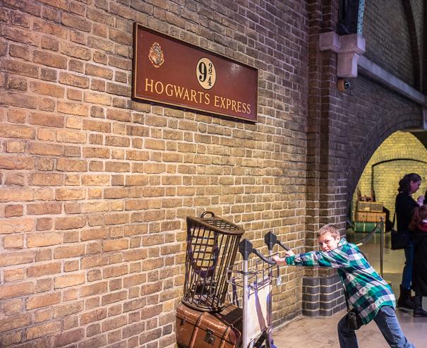 Platform 9 3/4 at Kings Cross - Harry Potter tour