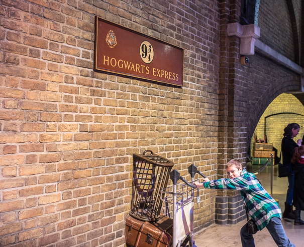 Platform 9 3/4 at Kings Cross - Harry Potter tour
