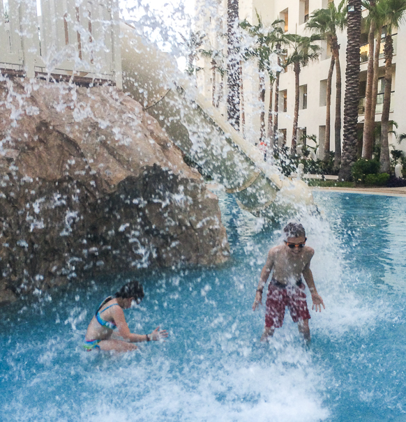 Hyatt Ziva water slides - Los Cabos with kids
