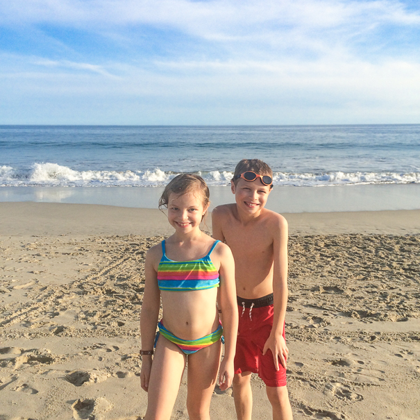 Beach time in Los Cabos with kids
