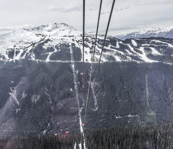 Peak 2 Peak gondola views from Whistler with kids