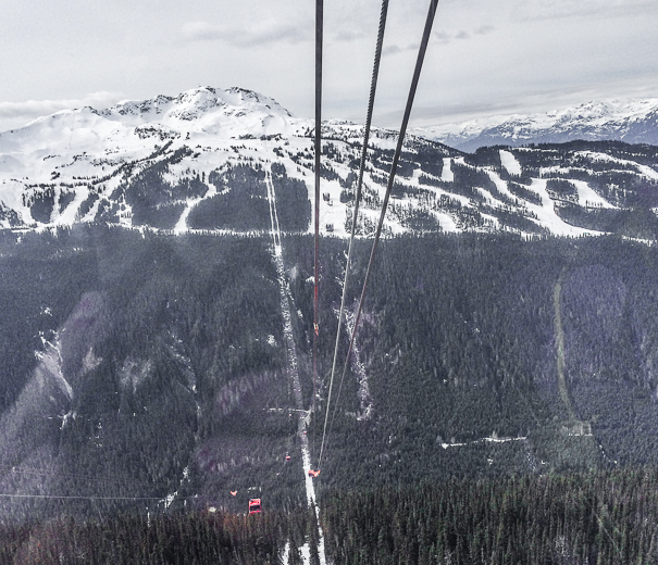Peak 2 Peak gondola views from Whistler with kids