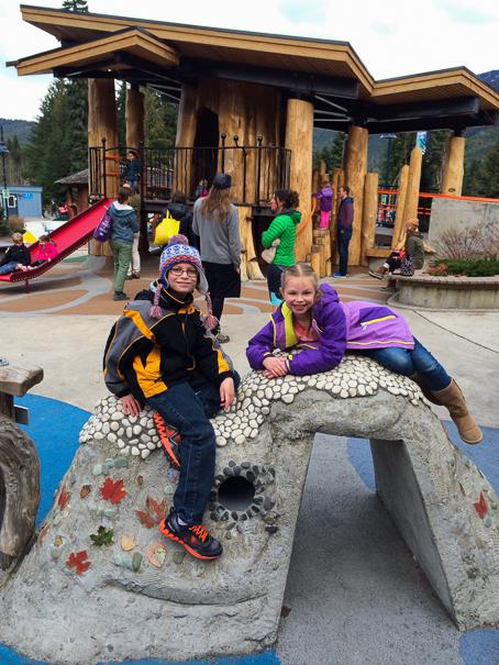 Whistler Village with kids