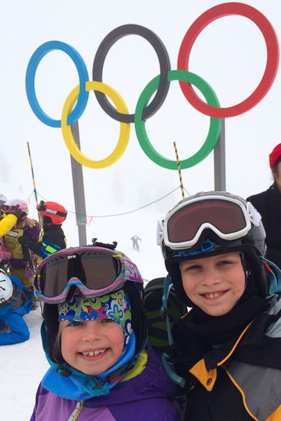 Ski trip to Whistler with kids - Olympic rings