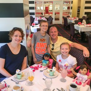 Brunch at American Girl - fun things to do in Chicago with kids