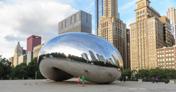 Pictures at Cloud Gate - top activities in Chicago.