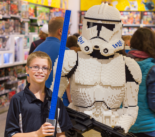 Things for kids to do in Chicago - visit the Lego store.