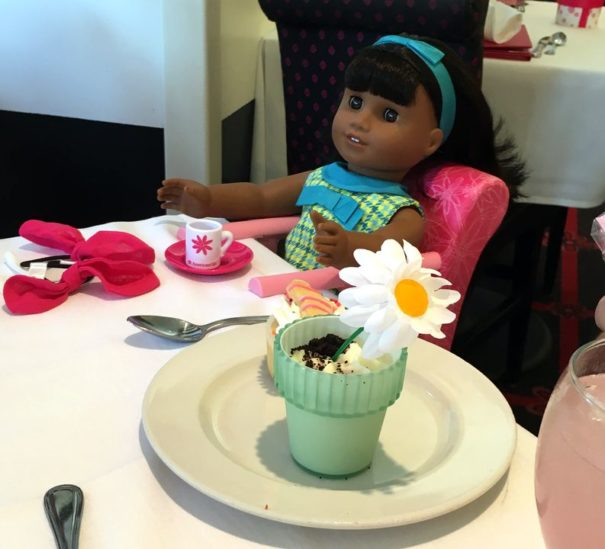 Even the dolls get place settings at American Girl Place.