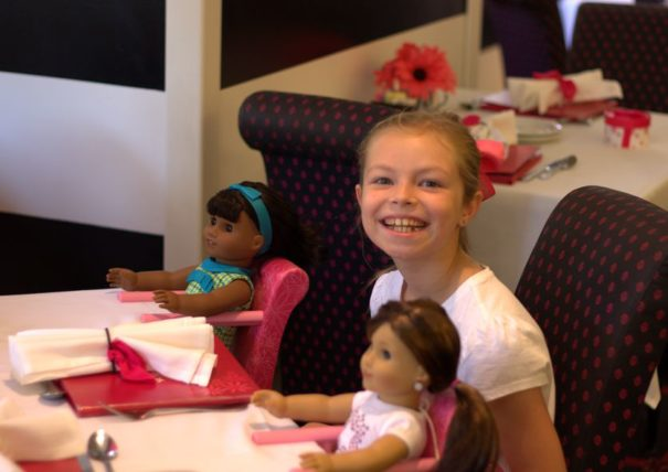 Cadence and her guests of honor were seated and happy.