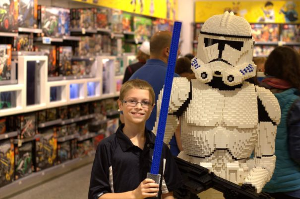 Redemption for Andrew at the Lego Store!