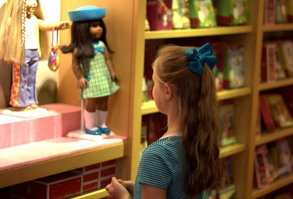 Shopping at American Girl Place Chicago