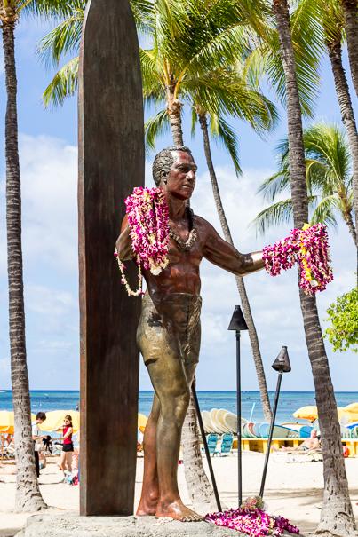 Duke Kahanamoku Waikiki Beach Oahu Hawaii
