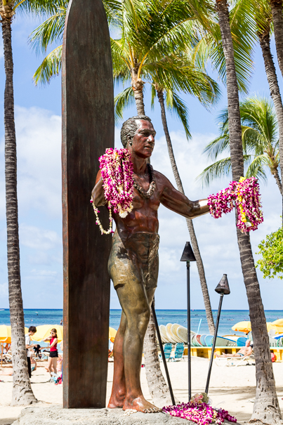 Duke Kahanamoku Waikiki Beach Oahu Hawaii