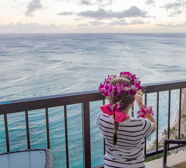 Chasing sunsets from the Hyatt Regency Waikiki Balcony - Hawaii with kids