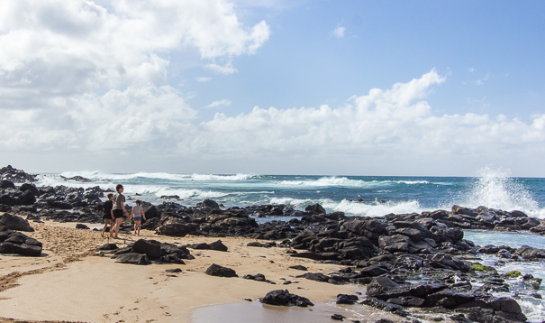 Visiting the beaches of North Shore Oahu Hawaii