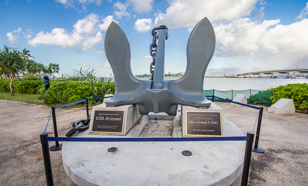 USS Arizona Anchor - WWII Valor in the Pacific Monument Pearl Harbor