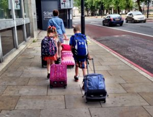 Carry-on luggage in London