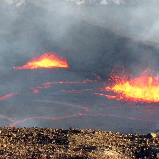 Lava lake at Volcanoes National Park