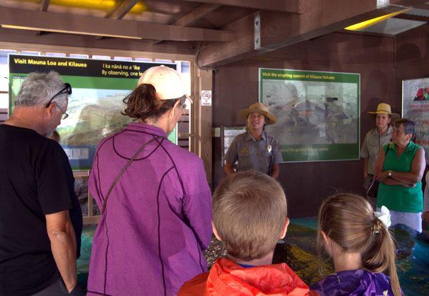 Ranger talks at Volcanoes National Park