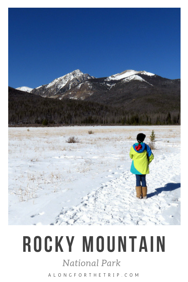 Rocky Mountain National Park is gorgeous any time of year, but especially so in winter. Although you won't be able to drive Trail Ridge Road across the park, there are lots of trails open and so many gorgeous views to discover. Come see for yourself and take the kids and explore #RMNP! | #familytravel #nationalparks #everykidinapark