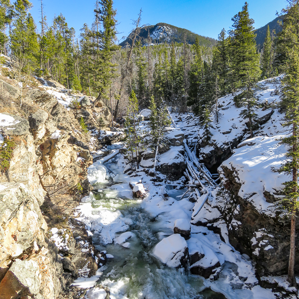 Hiking to Adams Falls in Rocky Mountain National Park