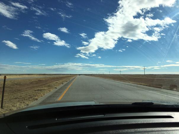 Driving to Winter Park through Western Kansas