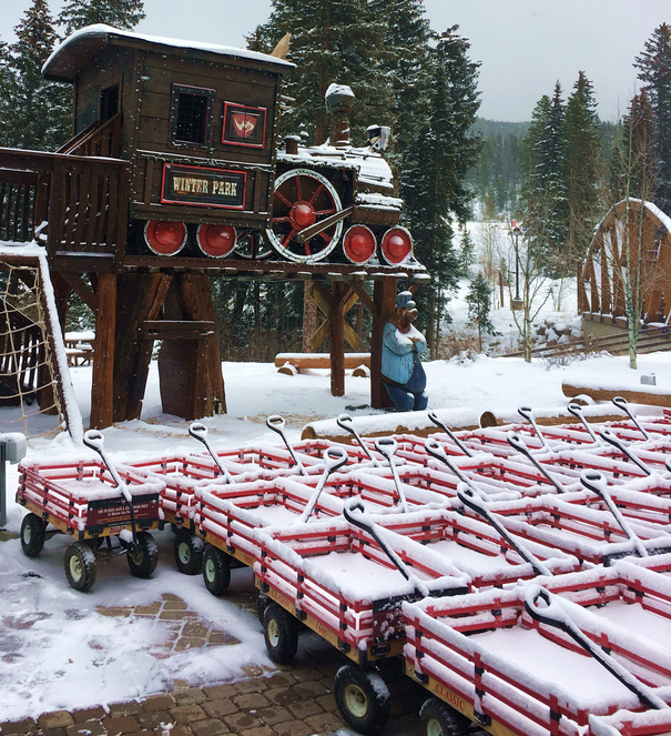 These wagons make Winter Park on of the best ski resorts for families.